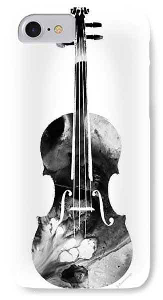 Black And White Violin Art By Sharon Cummings Phone Case by Sharon Cummings