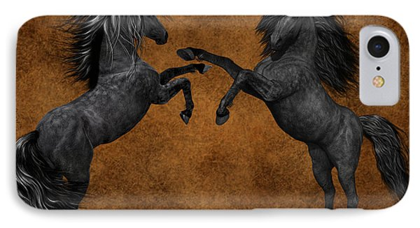 Black Beauties IPhone Case by Marvin Blaine