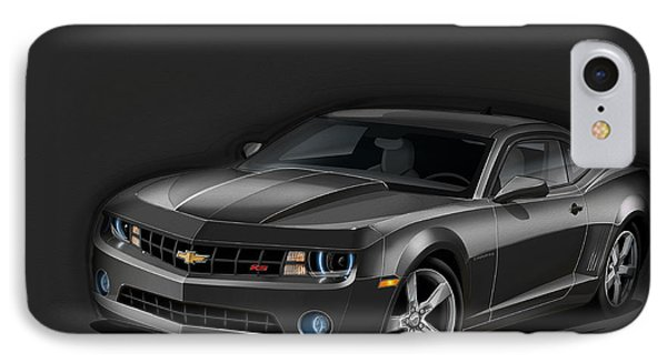 Black Camaro IPhone Case by Etienne Carignan