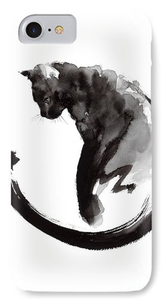 Black Cat IPhone 7 Case by Mariusz Szmerdt