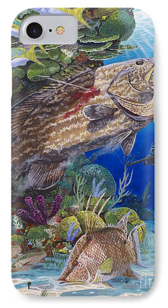 Black Grouper Hole Phone Case by Carey Chen
