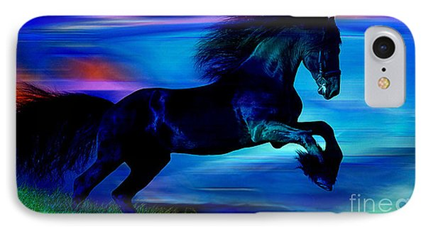 Black Horse IPhone Case by Marvin Blaine
