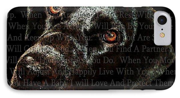 Black Labrador Retriever Dog Art - I Am Dog Phone Case by Sharon Cummings