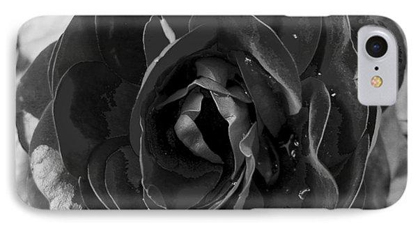 Black Rose Phone Case by Nina Ficur Feenan