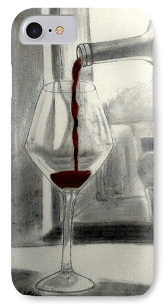 Black White And Red Wine Phone Case by Chenee Reyes
