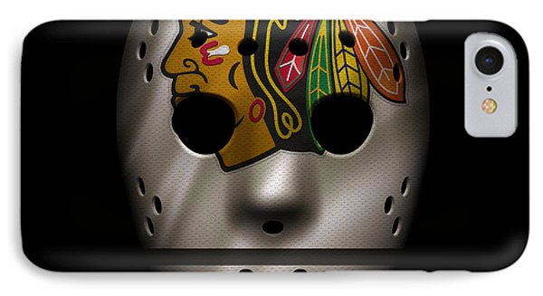 Blackhawks Jersey Mask IPhone 7 Case by Joe Hamilton