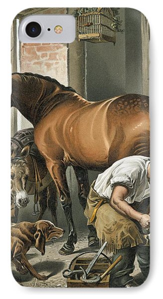 Blacksmith IPhone Case by Sir Edwin Landseer