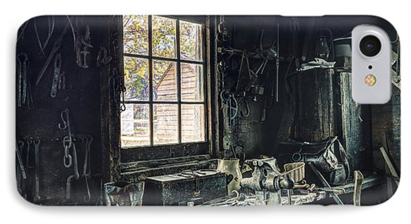 Blacksmiths Workbench - One October Afternoon Phone Case by Gary Heller
