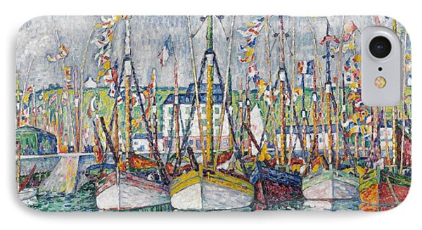 Blessing Of The Tuna Fleet At Groix IPhone Case by Paul Signac
