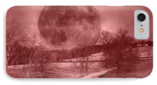 Blood Moon One Of Two IPhone Case by Betsy Knapp