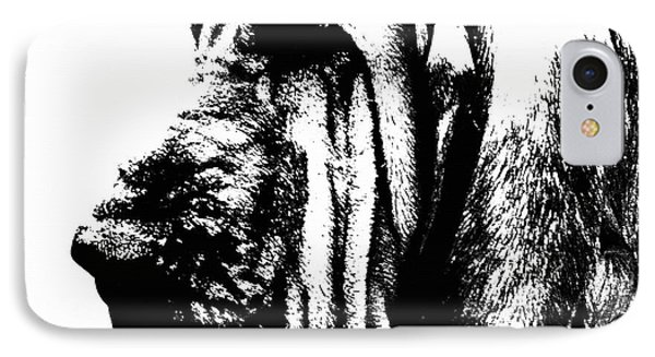 Bloodhound - It's Black And White - By Sharon Cummings Phone Case by Sharon Cummings