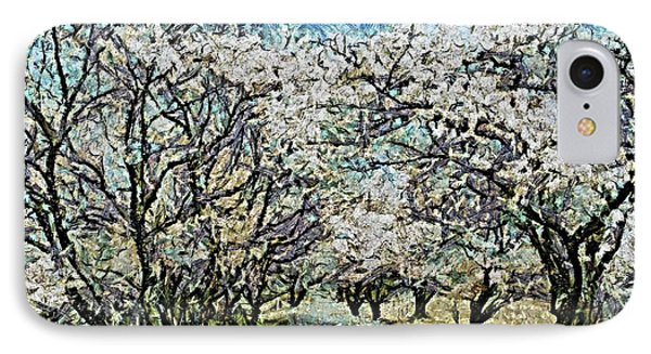 Blooming Cherry Tree Avenue IPhone Case by Dragica  Micki Fortuna