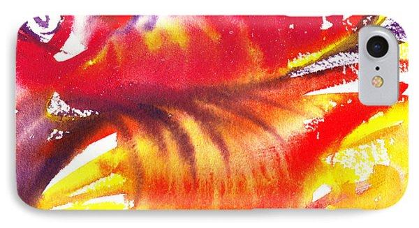 Blossoming Flames Abstract  IPhone Case by Irina Sztukowski