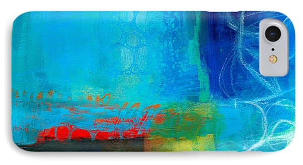 Blue #2 IPhone Case by Jane Davies