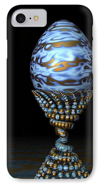 Blue And Golden Egg IPhone Case by Hakon Soreide