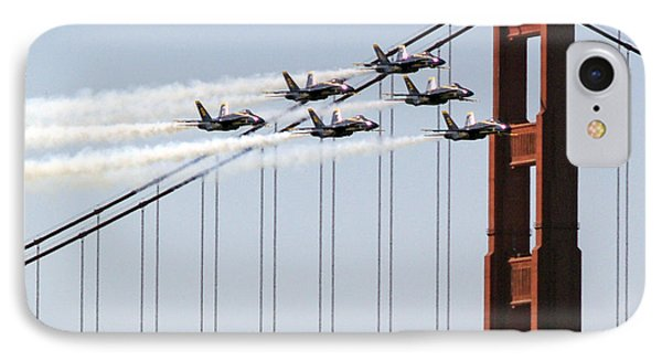 Blue Angels And The Bridge IPhone 7 Case by Bill Gallagher