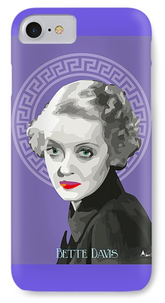 Bette Davis Drawing IPhone Case by Quim Abella