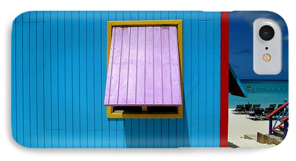 Blue Cabin IPhone Case by Randall Weidner
