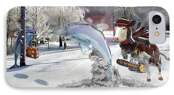 Blue Christmas IPhone Case by Douglas Martin