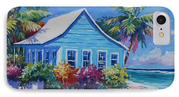 Blue Cottage On The Beach Phone Case by John Clark