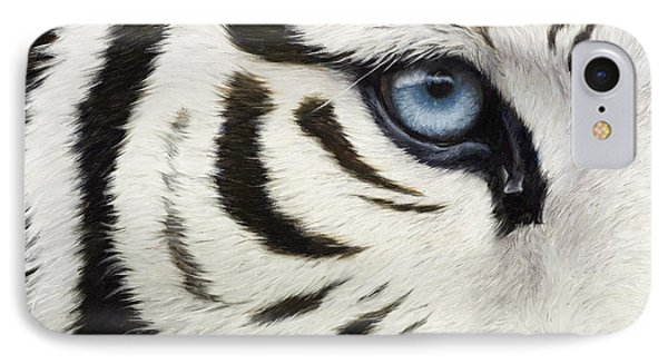 Blue Eye IPhone Case by Lucie Bilodeau