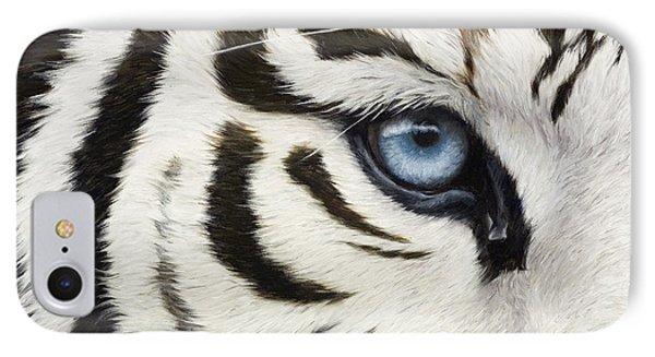 Blue Eye IPhone Case by Lucie Bilodeau