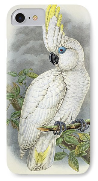 Blue-eyed Cockatoo IPhone 7 Case by William Hart