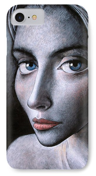 Blue Eyes IPhone Case by Ilir Pojani