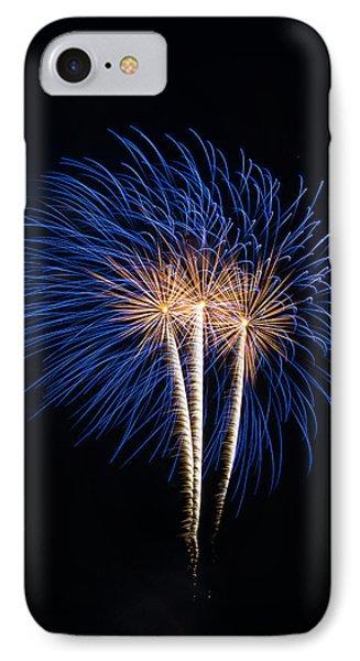 Blue Fireworks IPhone Case by Paul Freidlund