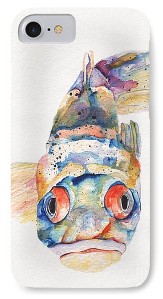 Blue Fish   IPhone Case by Pat Saunders-White