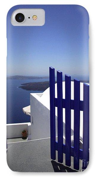 Blue Gate Phone Case by Deborah Benbrook