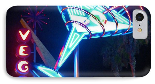 Blue Martini Glass Las Vegas Phone Case by John Malone
