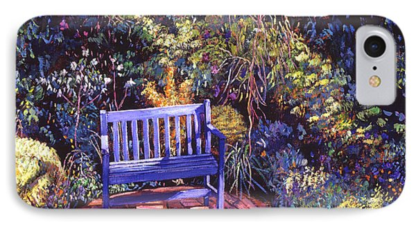 Blue Meeting Chair IPhone Case by David Lloyd Glover