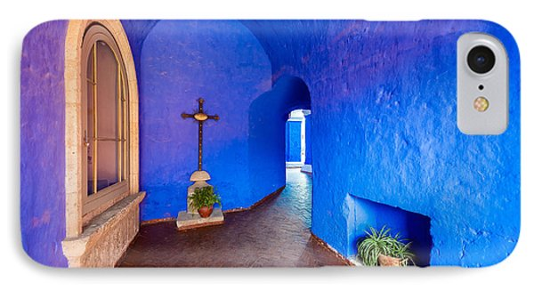 Blue Monastery Interior IPhone Case by Jess Kraft