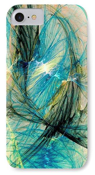 Blue Phoenix Phone Case by Anastasiya Malakhova