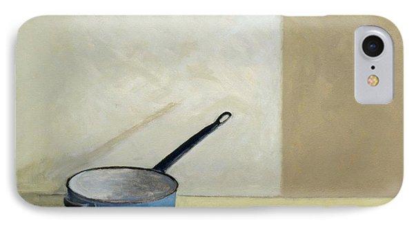 Blue Saucepan Phone Case by William Packer