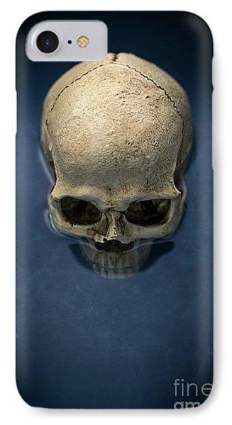 Blue Skull IPhone Case by Edward Fielding