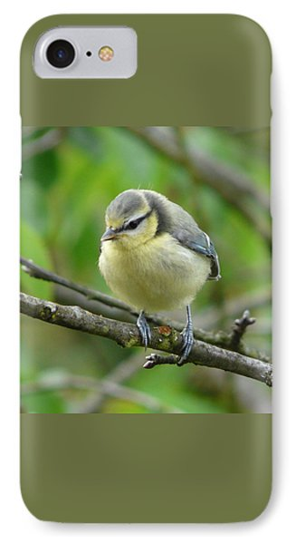 Blue Tit In A Cherry Tree Phone Case by Valerie Ornstein