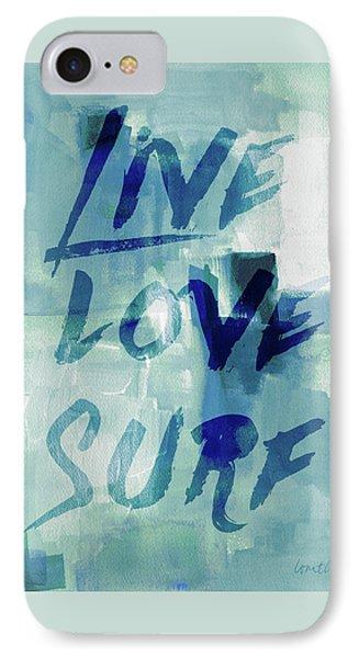 Blue Waves II IPhone Case by Lanie Loreth