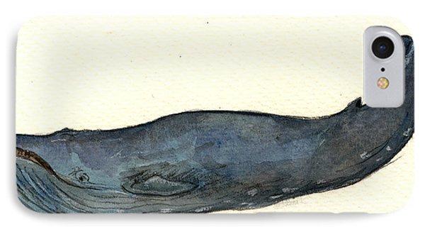 Blue Whale IPhone 7 Case by Juan  Bosco