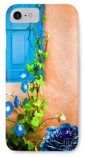 Blue Window - Painted Phone Case by Bob and Nancy Kendrick
