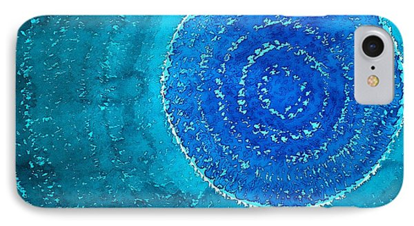 Blue World Original Painting Phone Case by Sol Luckman