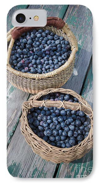 Blueberry Baskets IPhone 7 Case by Edward Fielding