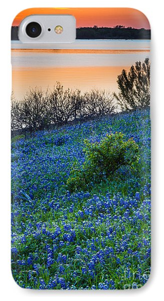 Grapevine Lake Bluebonnets IPhone Case by Inge Johnsson