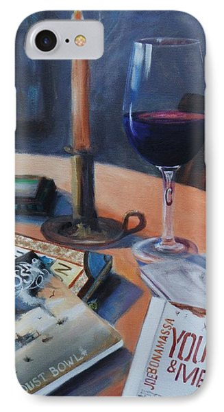 Blues And Wine IPhone Case by Donna Tuten