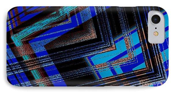 Bluish Geometric Design Phone Case by Mario Perez