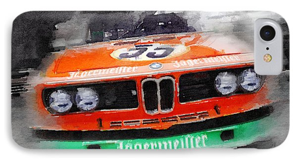 Bmw Front End Watercolor IPhone Case by Naxart Studio