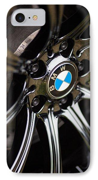 Bmw M5 Black Chrome Wheels IPhone Case by Mike Reid