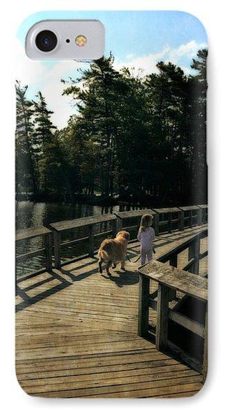 Boardwalking IPhone Case by Michelle Calkins