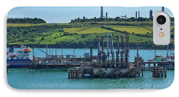 Boat At Refinary In Milford Haven IPhone Case by Panoramic Images